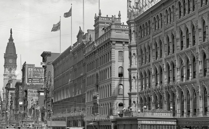 A 1905 photo of Market Street in Philadelphia
