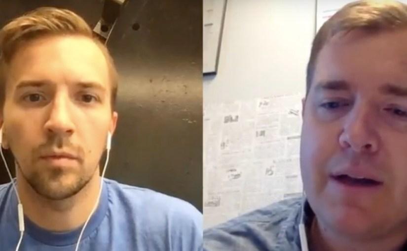 'The Blind Entrepreneur' podcast host and me