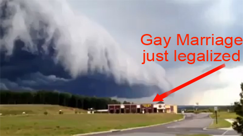 gay marriage causes storms