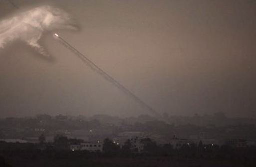 god swats hamas rocket out of the sky