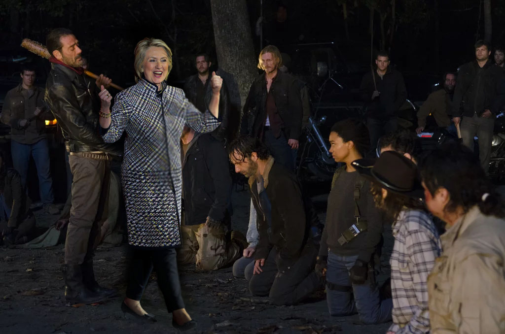 hillary-clinton-orders-gleen-death-the-walking-dead
