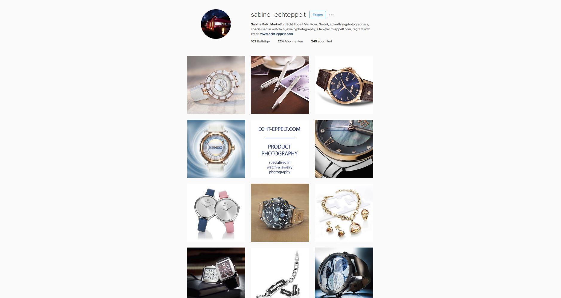unser Instagram acccount für unsere Uhrenfotografie