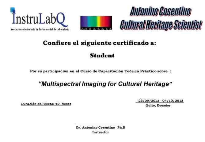 multispectral imaging training