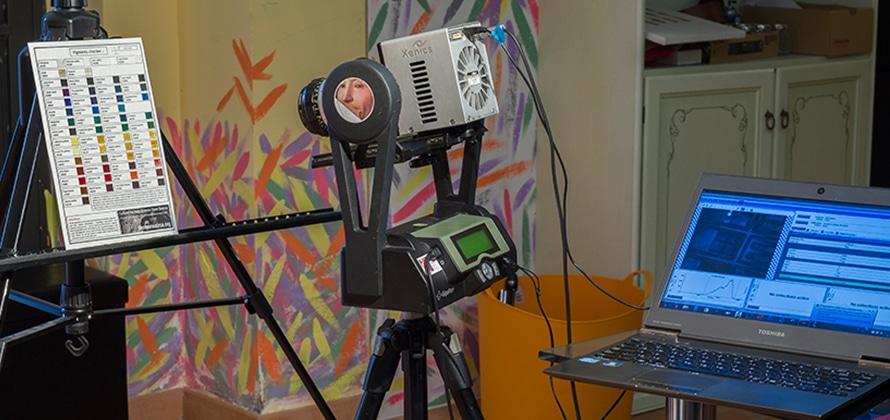Pigments Checker used to test T2SL (Type II Super Lattice) camera