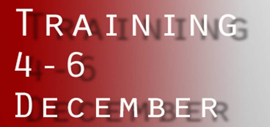 Training Dec 2015
