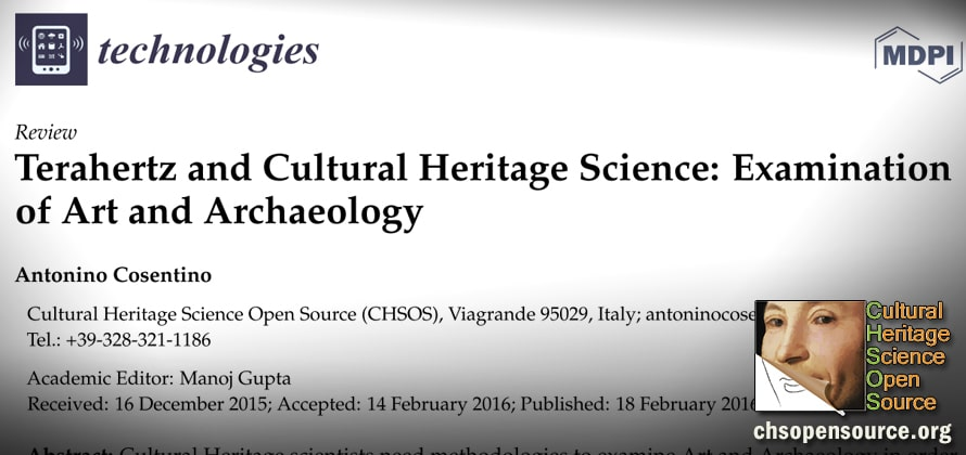 Terahertz and Cultural Heritage Science Examination of Art and Archaeology