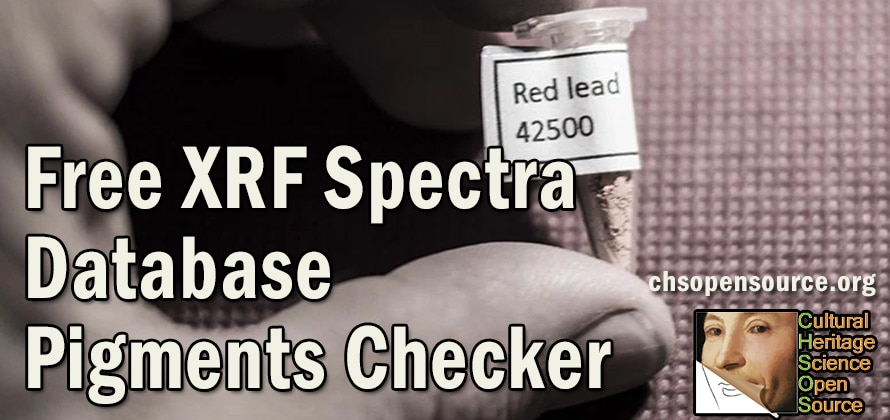 pigments XRF database Pigments Checker red lead