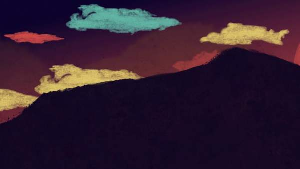 Painted Hillside: Free Looping Background