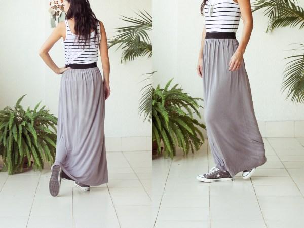 Stripe & Maxi Skirt1