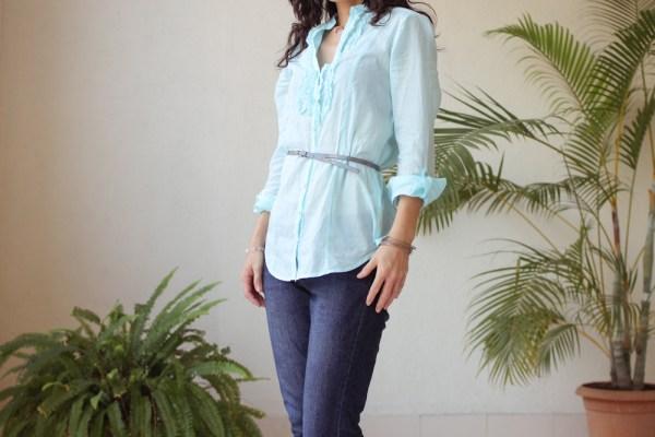Cottonworld Blue Shirt