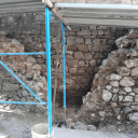 Fig. 8 Wall dismantling to check the foundation
