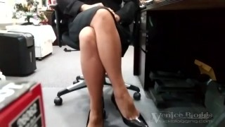 Syntribation - Asian Woman Quietly Syntribating During Work Hours