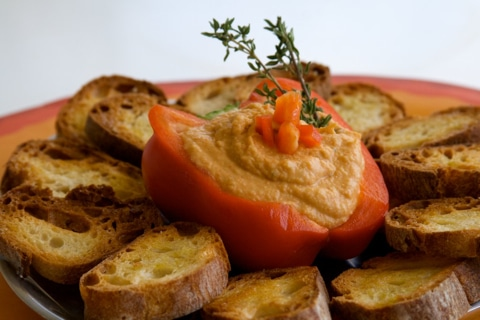 Roasted Pepper Hummus Recipe