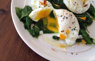 Sauteed Garlic Spinach & Eggs