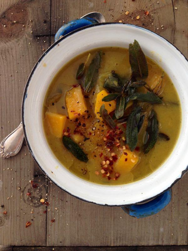 Butternut Squash Leek Soup Recipe with Crispy Sage - Ciao ...