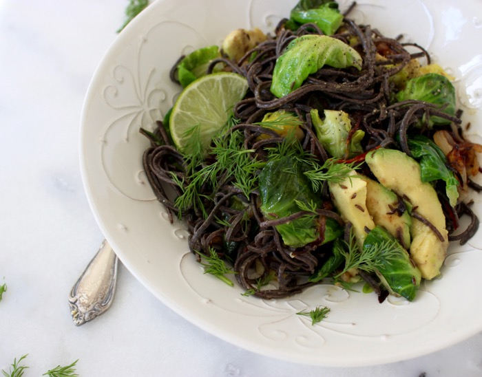 Black Bean Spaghetti Recipe with Brussels Sprouts ...