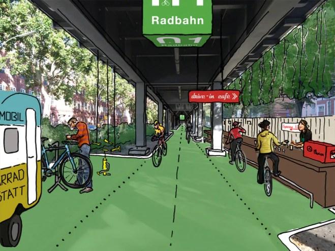 Ciclovia coberta em Berlim terá hortas e irá gerar energia limpa