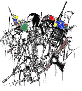 bolivar y pueblo
