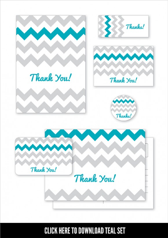 Chevron Moo Designs - Teal