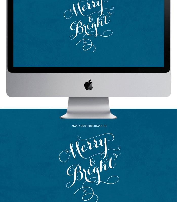 Merry & Bright – Desktop Wallpaper Freebie