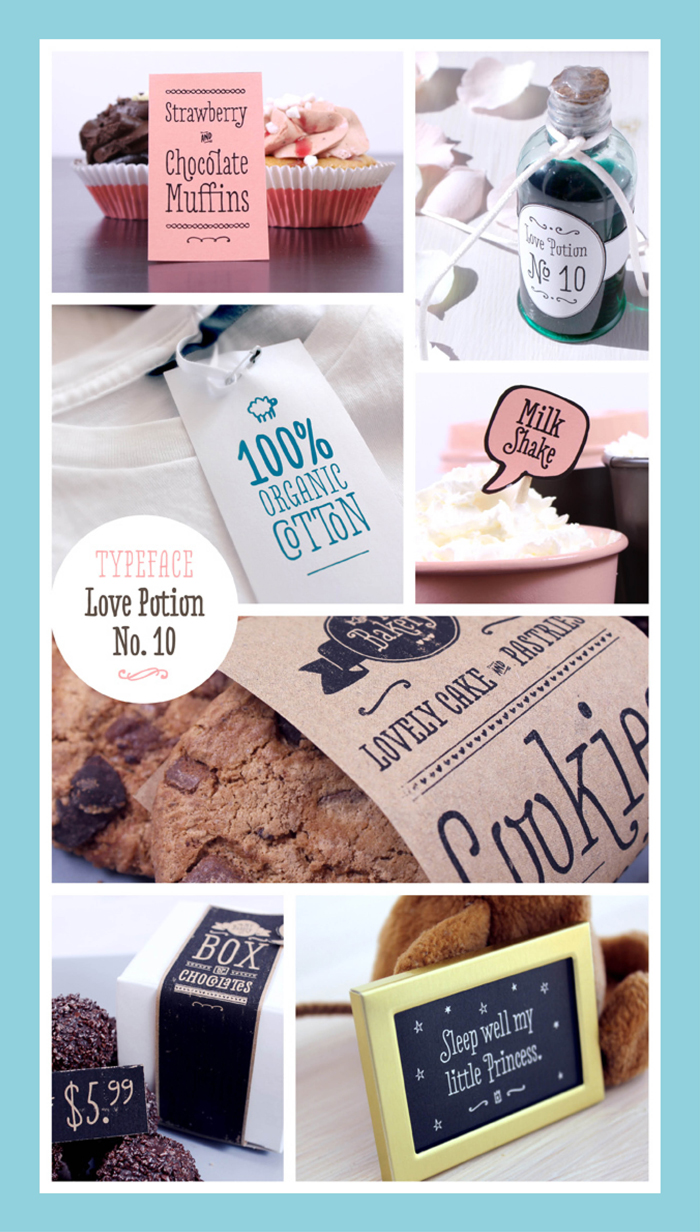 Love Potion Font Usage