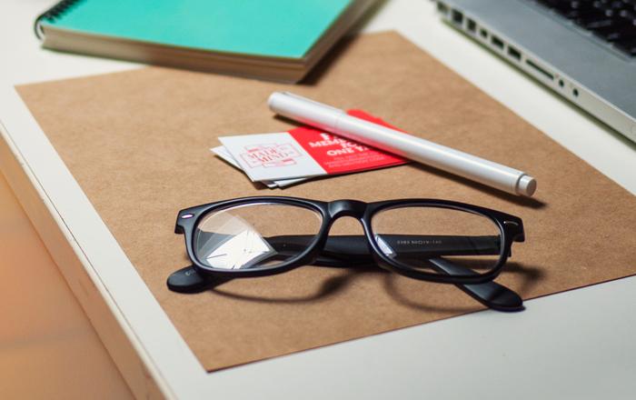 Trendy Glasses On Desk