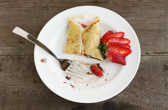 The Font Feast Presents Crepes with Nutella & Strawberries