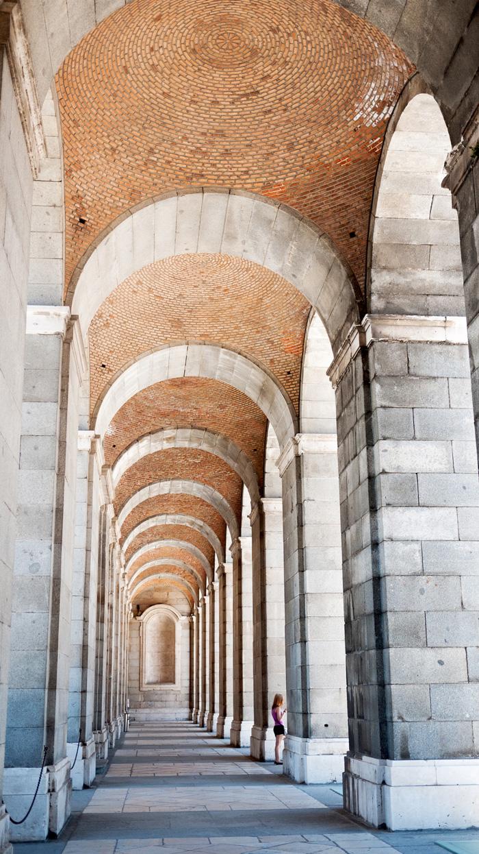 Royal Palace of Madrid Spain Passageway