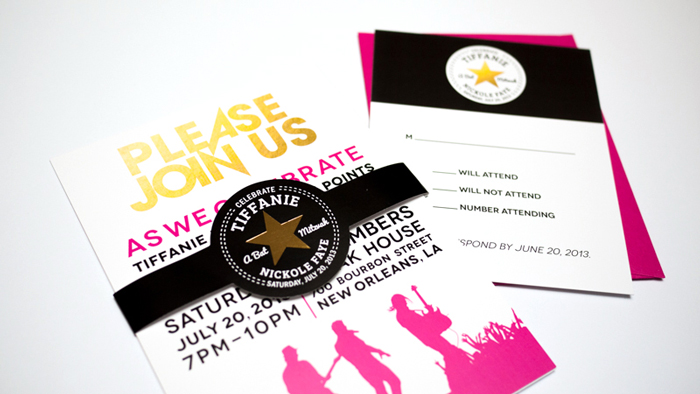 Rock Band Converse Bat Mitzvah Invite Ciera Design