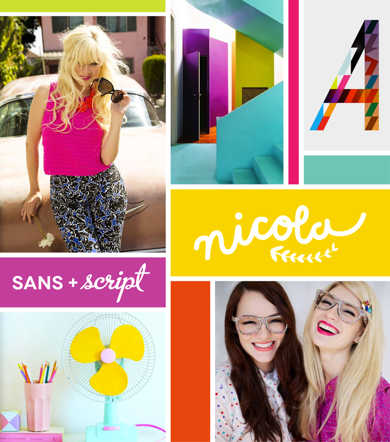 Bright, Bold, Fun Moodboard for Brand Identity Design
