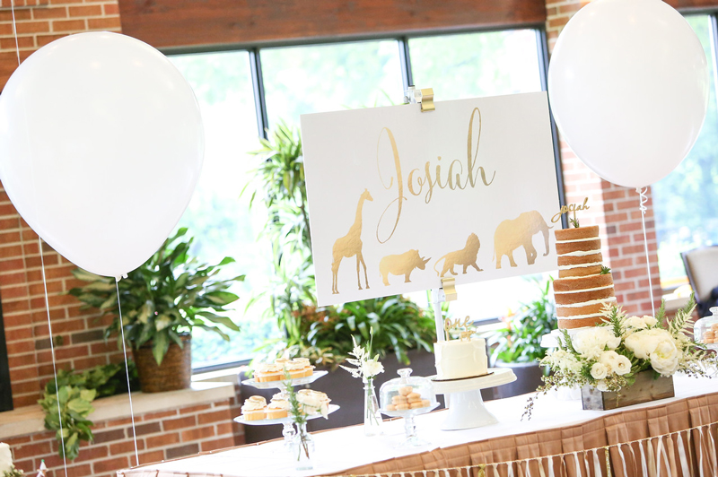 Featured on Hostess with the Mostess – Whimsical Gold Safari First Birthday