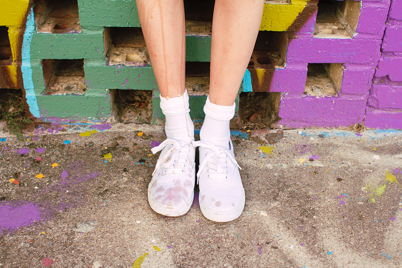 Ice Cream Dripping on Keds
