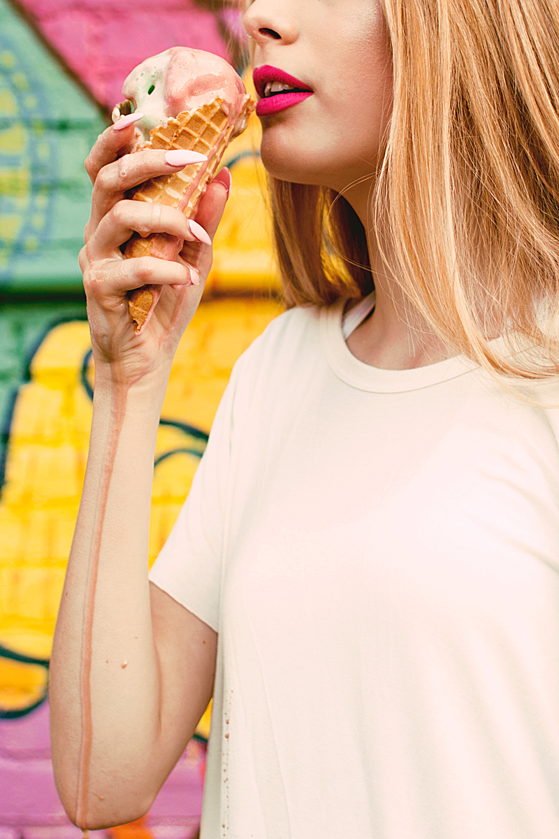 Ice Cream Dripping Down Arm