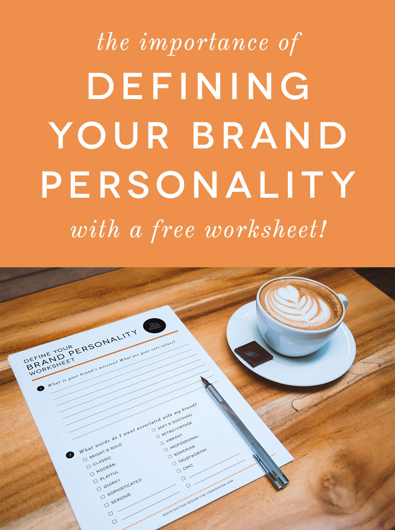 The Importance of Defining Your Brand Personality Worksheet