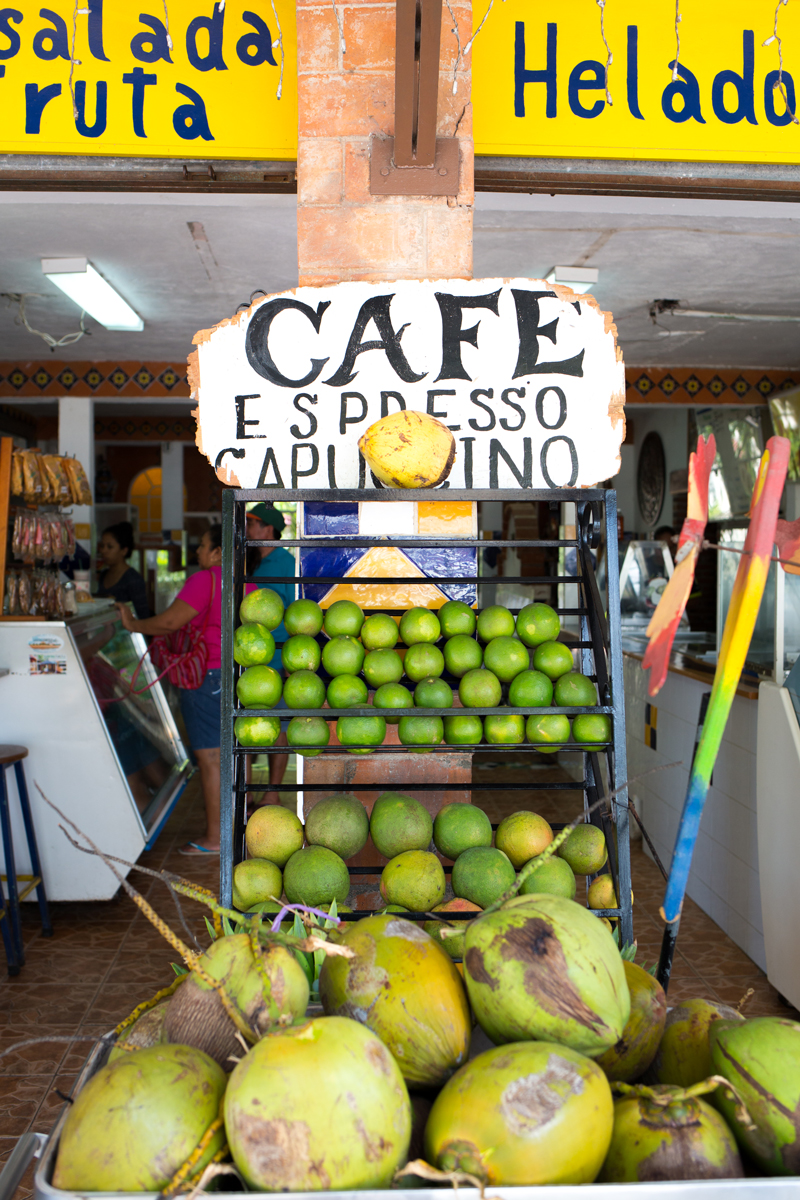 Tulum Mexico: Coconut and Lime Fresh Fruit Stand