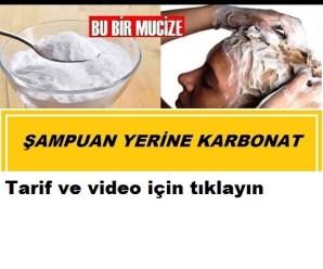 ŞAMPUAN YERİNE KARBONAT