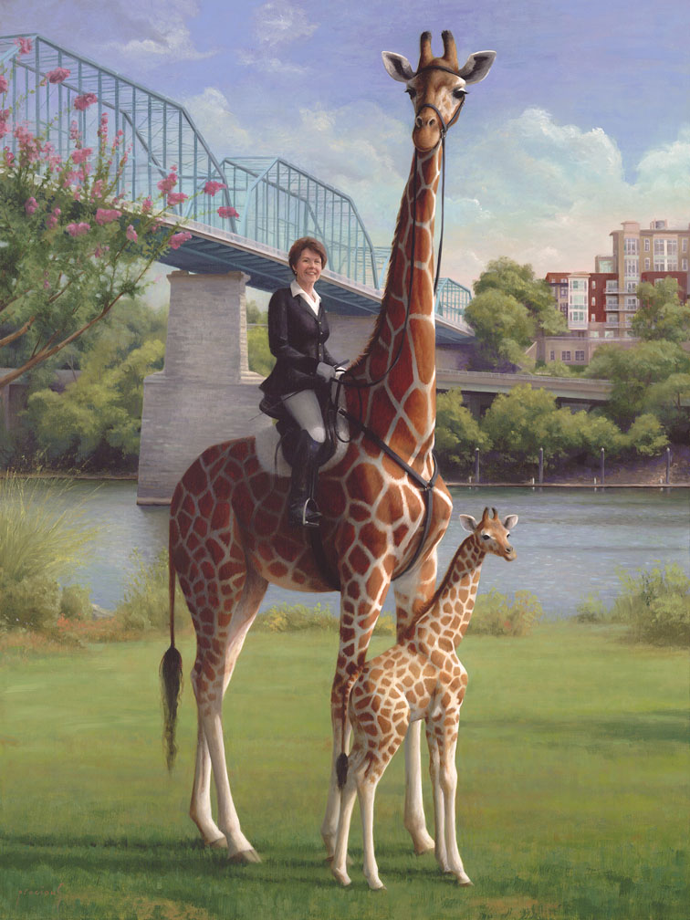 Connie and Her Giraffes