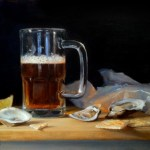 "Beer and Oysters N'awlins style • 12 x 16"" oil on linen"