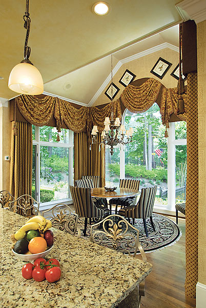 window treatments frame round and square top