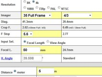 Handy Automatic Same View Lens Calculator: