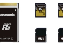 Panasonic microP2 Card With a SD Card Form Factor: