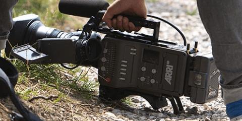 ARRI AMIRA camera on the ground