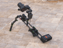 More Brushless Gimbal Camera Setups Including One On a Funky Shoulder Mounted Camera Rig: