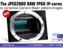 intoPIX JPEG2000 RAW FPGA IP-Cores to Compress Camera Bayer Pattern Images:
