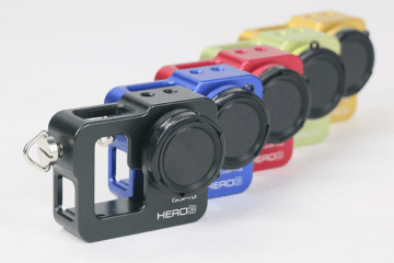 Gopro hero3 second generation aluminum alloy shell multifunctional dog cages dog 3 metal shell multicolor