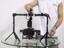 SteadyGim15 3-axis Brushless Gimbal Rig With The Stand Built Right Into The Handlebars