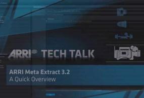 ARRI… Metadata Extraction From Alexa & Amira Cameras Tutorial