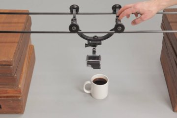 GoPro Overhead Slider Shot With the Morpheus from Cinevate