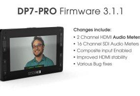 DP7-PRO Audio Meters: Firmware Update 3.1.1 from SmallHD