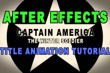 After Effects Tutorial on How To Do a Captain America Title Animation